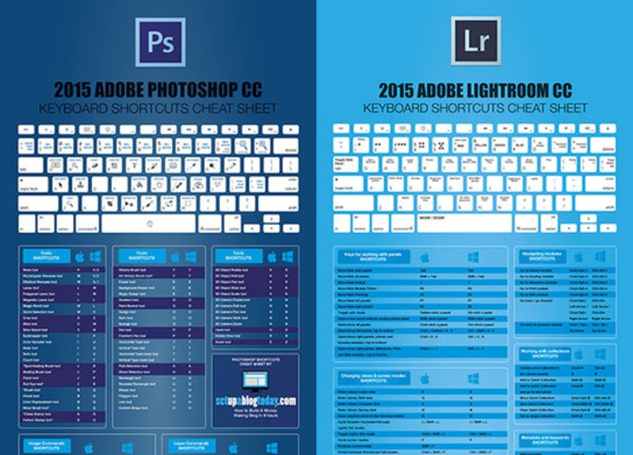 Ultimate Cheat Sheets for Photoshop and Lightroom | Through the Lens | Scoop.it