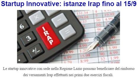 Startup Innovative Rimborso Irap | START UP & TAX | Scoop.it