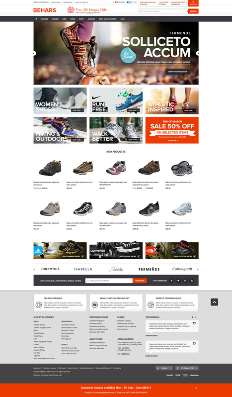Go Behars - Responsive Shoes Magento Go Theme - HaloThemes.com | Magento Templates | Scoop.it