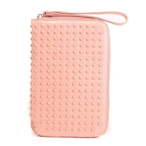 Christian Louboutin Spikes Leather Cris Case Baby Pink | Louis Vuitton Bags | Scoop.it