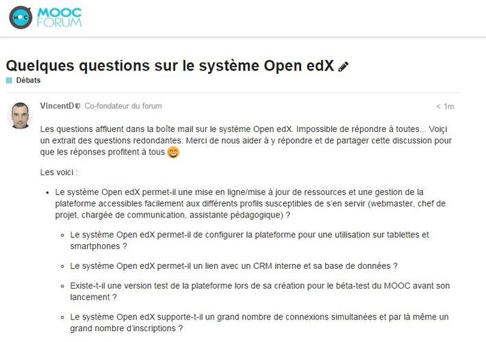Quelques questions sur le système Open edX | MOOC Francophone | Scoop.it