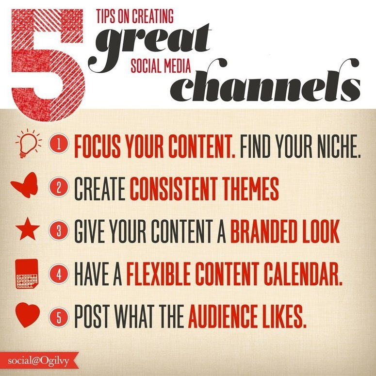 5 Tips on Creating Great Social Media Channels [Infographic]