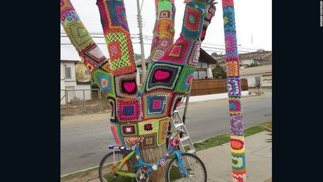 Chilean 'yarn bombers' plot large-scale knitting attack - CNN.com   Handcraft - knitting, crocheting, sewing, embroidery   Scoop.it