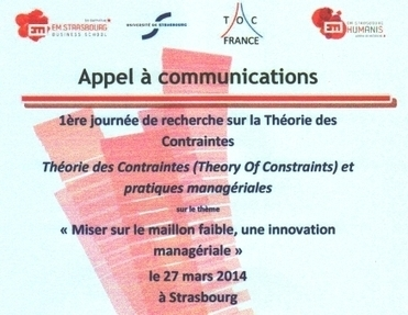 Conférence TOC - EM Strasbourg mars 2014 - Appel à communication | Thinking processes | Scoop.it
