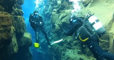 Diving in the Silfra rift at Thingvellir national park Iceland - VIDEO - News of Iceland | scuba dive | Scoop.it