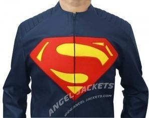 Man of Steel Jacket Superman | clark kent  smallville red leather shield jacket clothes worn smallville | Scoop.it