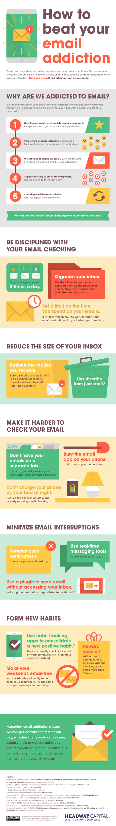 Tips To Help You Beat Your Addiction Email #infographic  | MarketingHits | Scoop.it