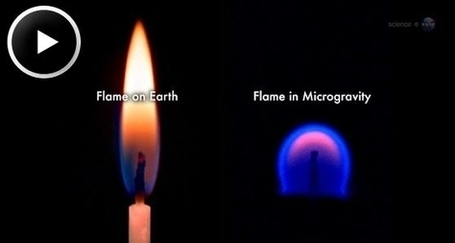 NASA Science - Strange Flames on the ISS: Flames in Microgravity | Amazing Science | Scoop.it