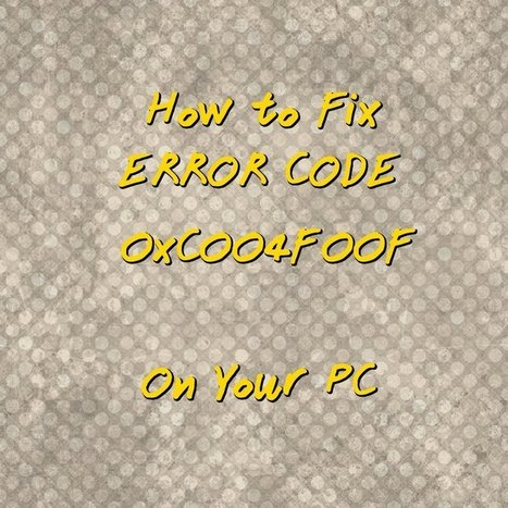 How to Fix Error Code 0xC004F00F on Your PC | Windows Errors & Fixes | Scoop.it