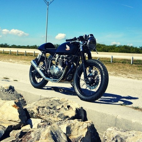 Honda CB500 Café Racer by Steel Bent Customs - (SILODROME) | Cafe Racers | Scoop.it