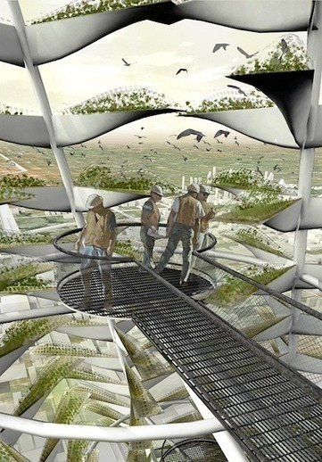Urban Vertical Farming: Generative System for a Vegetable Growing Infrastructure — City Farmer News | Vertical Farm - Food Factory | Scoop.it