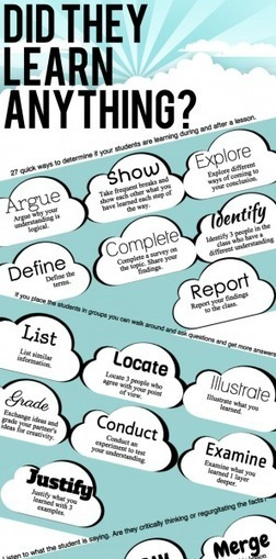 27 Ways To Determine If Your Students Are Learning Infographic | ticsg | Scoop.it