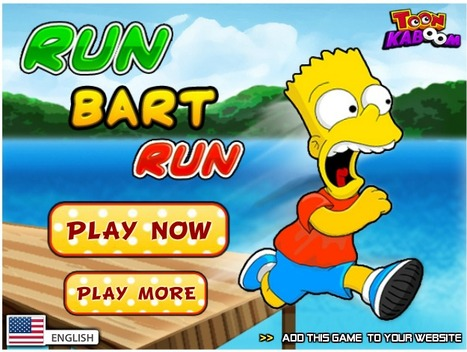 Run Bart Run | Best Cartoon Games | Scoop.it