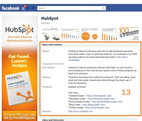 The Anatomy of an Effective Facebook Business Page | Everything Facebook | Scoop.it