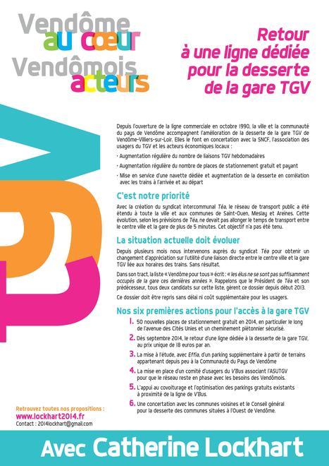 CATHERINE LOCKHART – Google+ - Actions pour l'accès à la gare TGV C'est notre priorité … | 2014 LOCKHART | Scoop.it