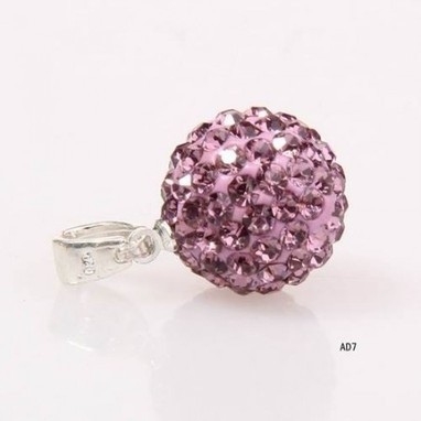 Shamballa Canada Swarowski and Clay 10mm Violet Crystal Ball Silver Beads Pendant Cheap Sale In Shamballa Canada Online Store | My favourit photos | Scoop.it
