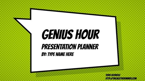 Genius Hour Digital Resources | Into the Driver's Seat | Scoop.it