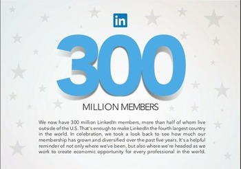 300 million members for LinkedIn!   Business in a Social Media World   Scoop.it