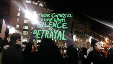 """Twitter / AngelaHaggerty : """"There comes a time when silence ... 