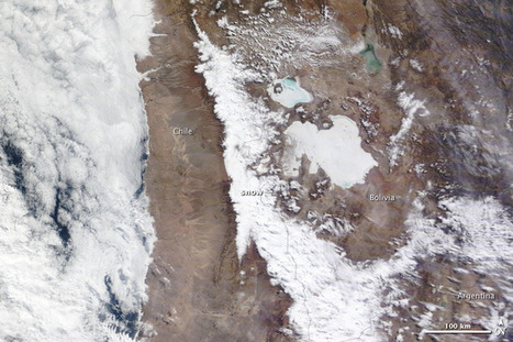 Rare Snow in Atacama Desert, Chile | All Things Geography | Scoop.it
