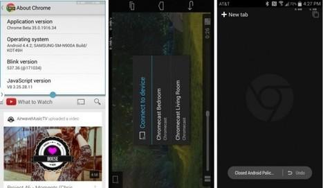 Chrome 35 Beta sur Android est compatible avec le multi-fenêtre des Samsung Galaxy   Android & DIY   Scoop.it