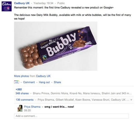 Cadbury turns to Google+ to launch Bubbly bar | augmented reality examples | Scoop.it