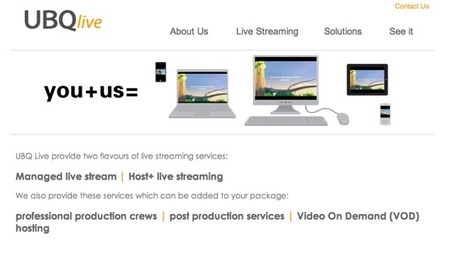 UBQ Live - Live video streaming service providers | mlearn | Scoop.it
