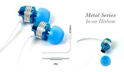 Blue In Ear Metal Headphones with mic | IPhone Cases | Scoop.it