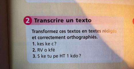 Un livre scolaire de français en 2014 : traduction de SMS | Actualité littéraire et culturelle | Scoop.it