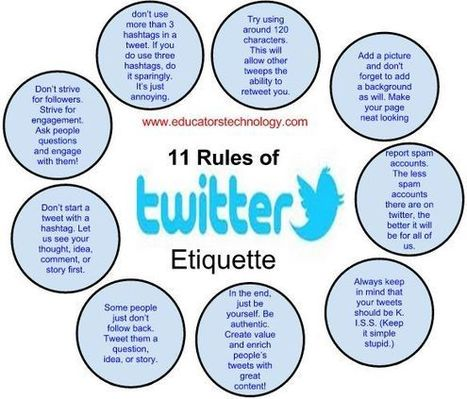 11 Great Twitter Etiquettes Teachers should Know | The 21st Century | Scoop.it