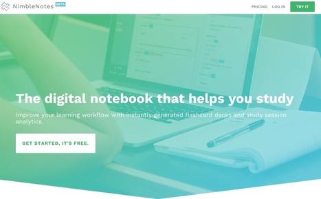 NimbleNotes. Créer des fiches en ligne pour mieux apprendre | Les outils du Web 2.0 | Scoop.it