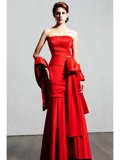 Sensational floor-length strapless Satin Mermaid Evening Dress SB6024 - Prom Dress Online Shop | prom dress | Scoop.it