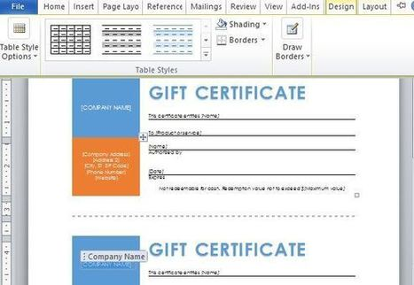 Free Word Template for Making Printable Gift Certificates   Free Microsoft Word Templates   Scoop.it