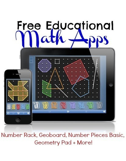 Free Educational Math Apps: Number Rack, Geoboard, Number Pieces Basic, Geometry Pad + More! | math and art education | Scoop.it