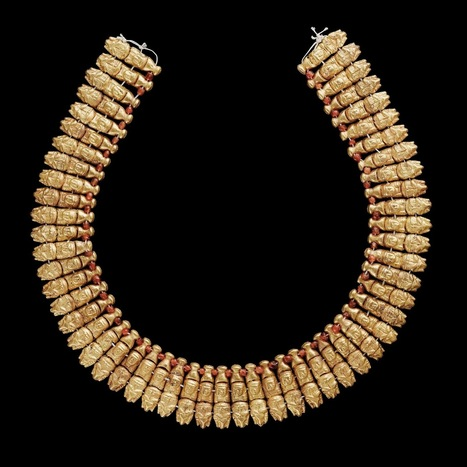 Necklace probably worn by Nubian Pharaohs; incl. symbol of Nubian (and Egyptian) Ram God | Ancient Egypt and Nubia | Scoop.it