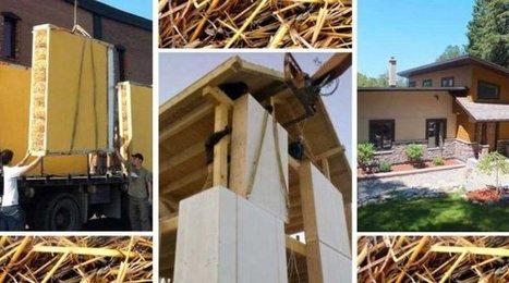 Construisez avec des panneaux isolants préfabriqués… en paille ! (Québec) | Innovation | Scoop.it