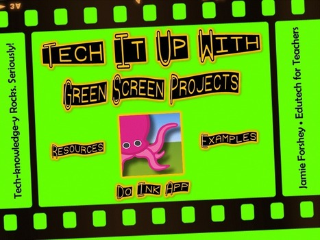 Tech It Up Tuesday: Green Screen Magic with the Do Ink App | iPads, MakerEd and More  in Education | Scoop.it
