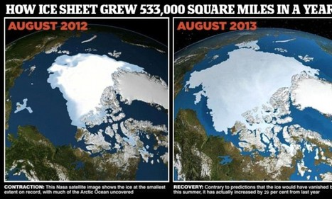 Return of Arctic ice cap as it grows by 29% | Sciences Extra | Scoop.it