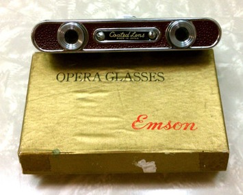 Mod Red Vintage Emson Compact Folding Spy Opera Glasses Made in Japan with Original Box | Antiques & Vintage Collectibles | Scoop.it