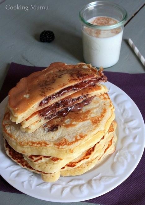 Pancakes fourrés au nutella   Le Petit Creux   Scoop.it