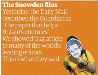 Snowden: la presse mondiale soutient The Guardian   DocPresseESJ   Scoop.it