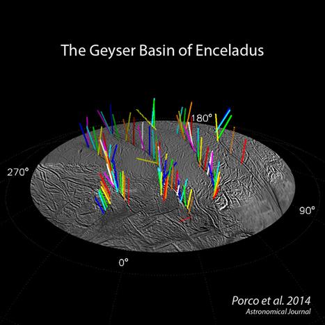 NASA: Cassini Spacecraft Maps 101 Geysers and More on Icy Saturn Moon Enceladus   Amazing Science   Scoop.it