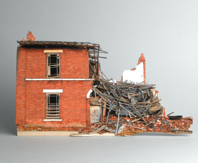 Broken Houses, Scale Models of Decaying Buildings by Ofra Lapid | Handstitched artwork | Scoop.it