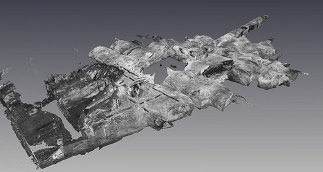 Laser scan of basement levels of Palazzo Imperiala - James Miles   Archaeology of Portus   Scoop.it