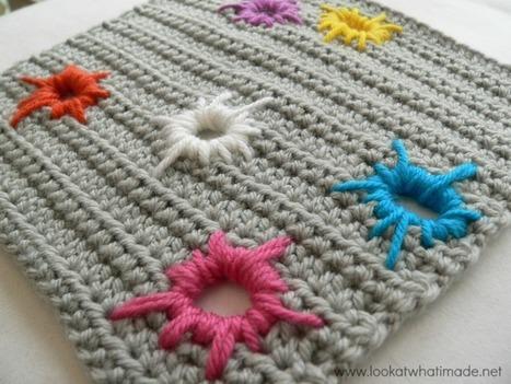 Paint Splatter Square | CrochetHappy | Scoop.it