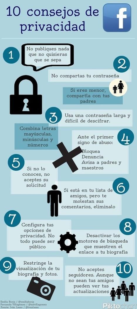 10 consejos sobre privacidad #infografia #infographic | Alfabetización Mundos Inmersivos | Scoop.it
