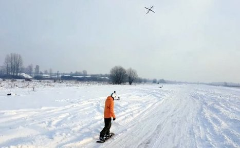 Droneboarding - Snowboarder Towed by a Drone | Unmanned Aerial Vehicles (UAV) | Scoop.it