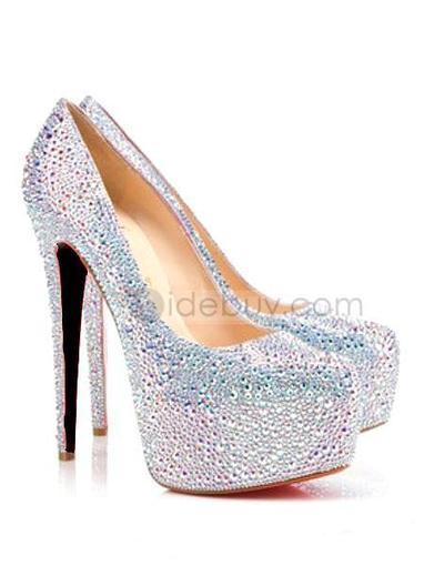 Cute Stiletto Heels Platform Euramerican Women's Rhinestone Shoes | fashion | Scoop.it