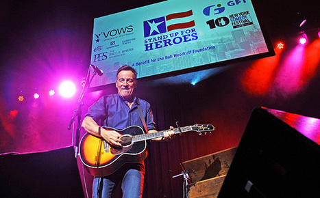 Bruce Springsteen rocks, tells dirty jokes, at Stand Up For Heroes event - EW.com   Bruce Springsteen   Scoop.it