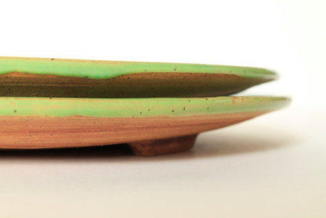lime green plates,  rustic and nature inspired pottery, set of two | Good stuff to get | Scoop.it